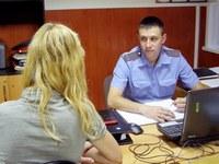 Старший участковый уполномоченный полиции лейтенант Андрей Татаренко